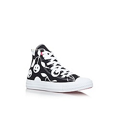 Converse - Black/ white 'Ct cherry hi' flat lace up hi top sneaker
