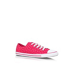 Converse - Pink comb 'Ct daintyanml lw' flat lace up low top sneaker