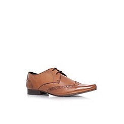 KG Kurt Geiger - Tan 'Reed' flat leather formal lace ups
