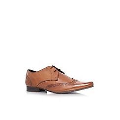 KG Kurt Geiger - Tan 'Reed' flat leather formal lace ups