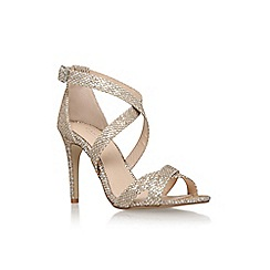 Carvela - Silver 'Lisa' high heel strappy sandal