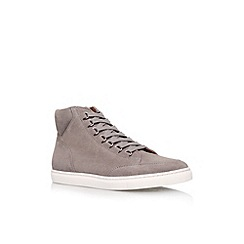 KG Kurt Geiger - Grey 'Brickers' flat lace up hi top trainer