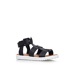 Carvela - Black 'Brave' flat strappy sandal