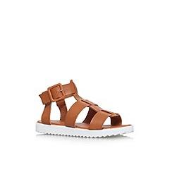 Carvela - Tan 'Brave' flat strappy sandal