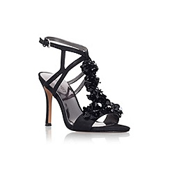 Nine West - Black 'Fabfour' high heel strappy sandal