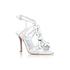 Nine West - Silver 'Fabfour' high heel strappy sandal
