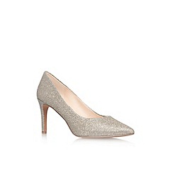 Nine West - Gold 'Charly2' high heel court shoe