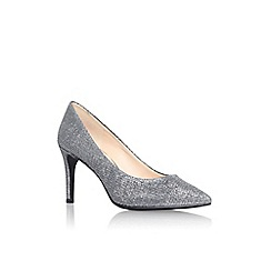 Nine West - Pewter 'Charly2' high heel court shoe