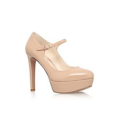 Nine West - Nude 'Dinah3' high heel platform court shoe