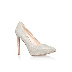 Nine West - Gold 'Leapafaith2' high heel court shoe