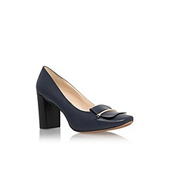 Nine West - Navy 'Newgyrl' mid heel court shoe