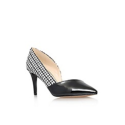 Nine West - Black/ white 'Pachanga2' high heel court shoe
