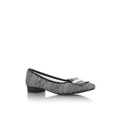 Anne Klein - Black/ white 'Kallima2' flat slip on court shoe