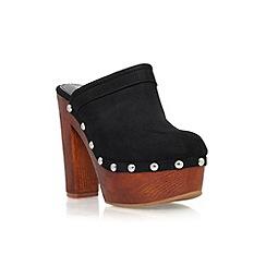 Miss KG - Black 'Garvey' high heel platform slip on mule
