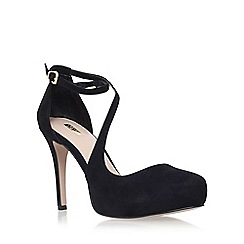 Carvela - Black 'Antler' high heel strap detail court shoes