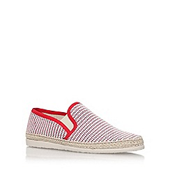 KG Kurt Geiger - Red 'Ainsley1' flat slip on sneakers