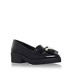 Carvela - Black 'Lava' flat slip on loafer