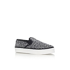Carvela - Black/comb 'Limpid' flat slip on trainer