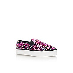 Carvela - Pink comb 'Limpid' flat slip on print detail casual trainer