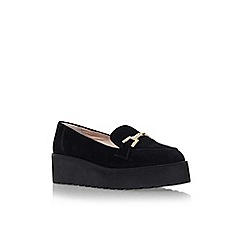 Carvela - Black 'Latch' flat platform slip on loafer