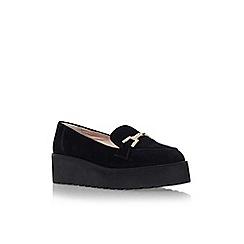 Carvela - Black 'Latch' flat platform slip on loafer