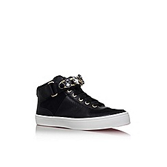 Carvela - Black 'luminous' flat lace up hi top style trainer