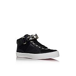 Carvela - Black 'luminous' flat lace up hi top style trainer