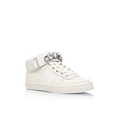 Carvela - White 'Luminous' flatlace up sneakers
