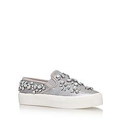 Carvela - Silver 'luxor' flat slip on sneaker