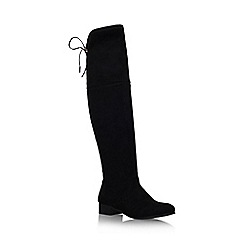 Carvela - Black 'Supper' low heel knee boot