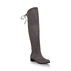 Carvela - Grey 'Supper' low heel knee boot