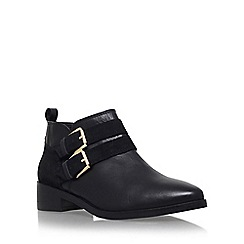 KG Kurt Geiger - Black 'Salvador' flat buckle detail ankle boot