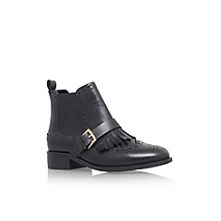 Miss KG - Black 'Stirling' flat brogue style ankle boot