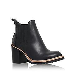 KG Kurt Geiger - Black 'Saloon' mid block heel ankle boot