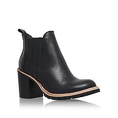 KG Kurt Geiger - Black 'Saloon' mid block heel ankle boot