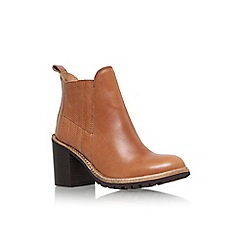 KG Kurt Geiger - Brown 'Saloon' high heel ankle boot