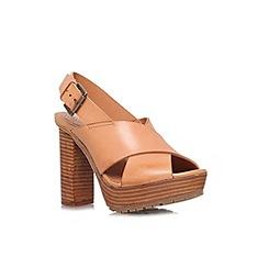 KG Kurt Geiger - Tan 'Mercury' high heel platform sandal