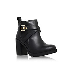 Carvela - Black 'Tacoma' high block heel buckle detail ankle boot