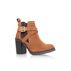 Carvela - Tan 'Tacoma' high block heel ankle boot