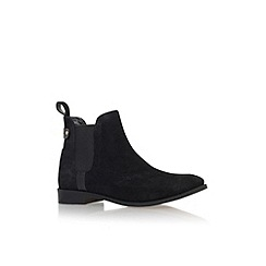Carvela - Black 'Turn' flat pull on ankle boot