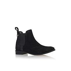 Carvela - Black 'Turn' flat pull on ankle boot