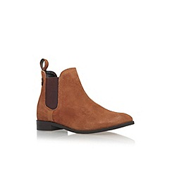 Carvela - Tan 'Turn' flat pull on ankle boot