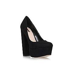 Carvela - Black 'Ariel' high heel platform court shoe