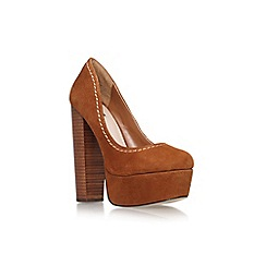 Carvela - Tan 'Ariel' high heel platform court shoe