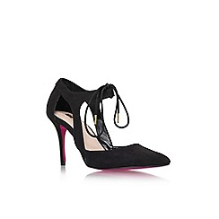 Carvela - Black 'Auden' high heel lace up court shoe