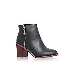 Carvela - Black 'Tag' high block heel ankle boot