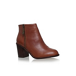 Carvela - Tan 'Tag' mid block heel ankle boot
