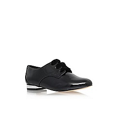 Miss KG - Black 'Minky' flat lace up formal shoe