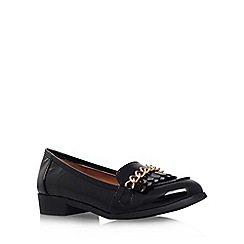 Miss KG - Black 'Miller' flat slip on loafer