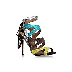Miss KG - Green comb 'Forest' high heel multi strap sandal